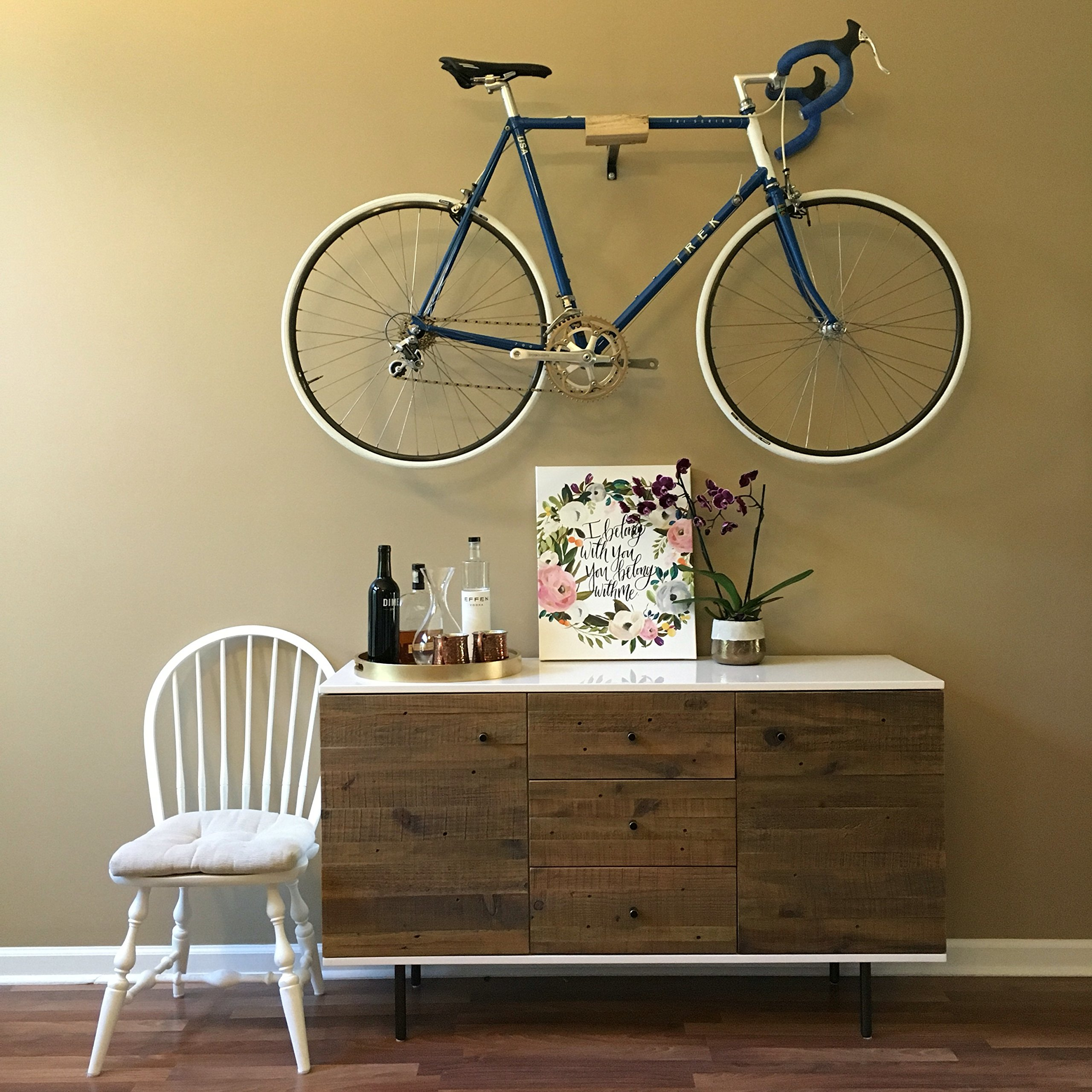 Ash and Steel Indoor Bicycle Wall Mount Hanger Rack by Well Hung Bicycles (Image #3)
