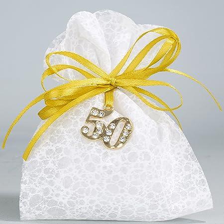 Anniversario Matrimonio Amazon.Albalu Italia Confettata Bomboniera 50 Anniversario Di Matrimonio