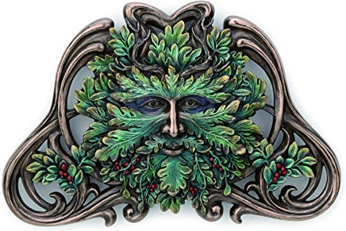 Veronese Design Green Man Winter Mistletoe Wall Plaque