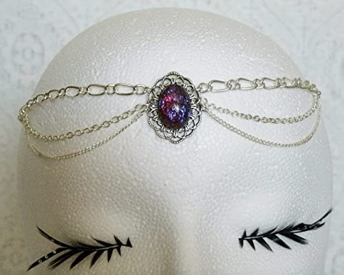 Dragon's Breathe Fire Opal Circlet handmade jewelry wiccan pagan wicca witch witchcraft gothic renaissance medieval victorian headpiece
