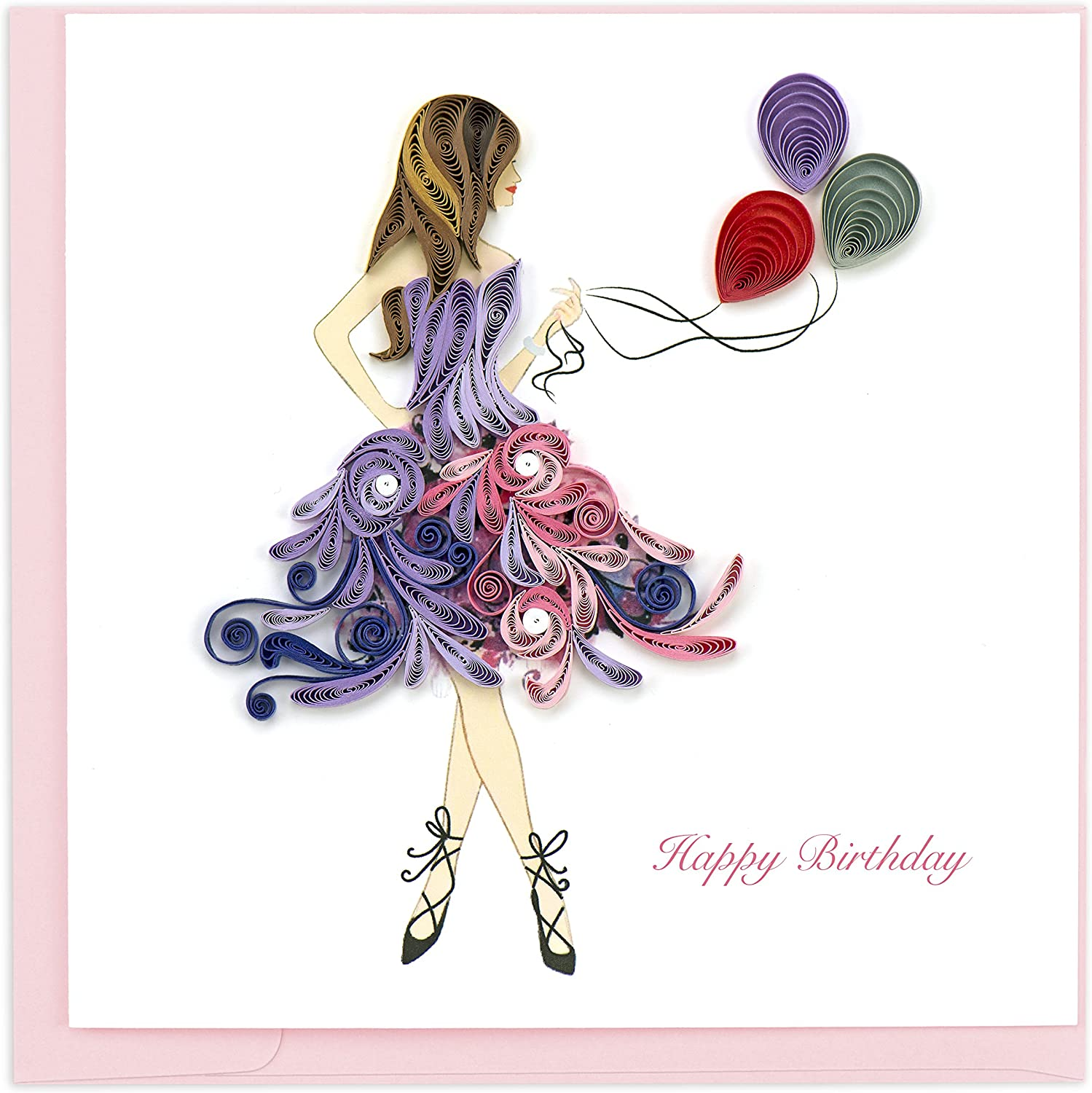Quilling Card 6D Greeting Cards (Birthday Girl )
