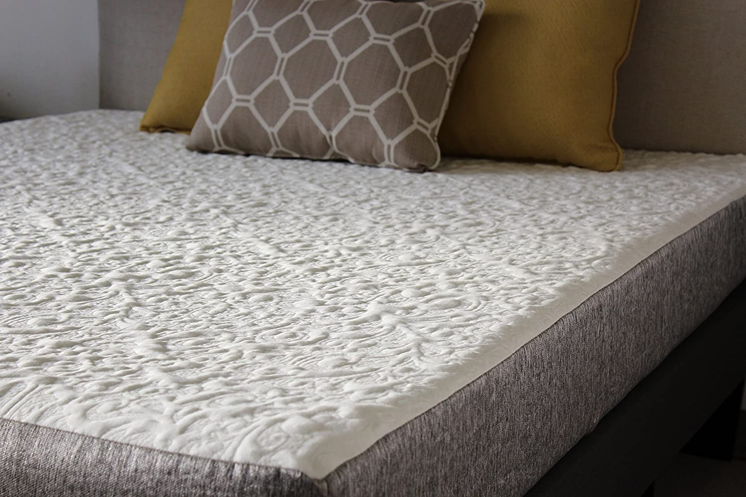 Handcrafted in USA 8 Inch Cool Sleep Gel Memory Foam Mattress with Premium Textured 8-Way Stretch Cover Queen