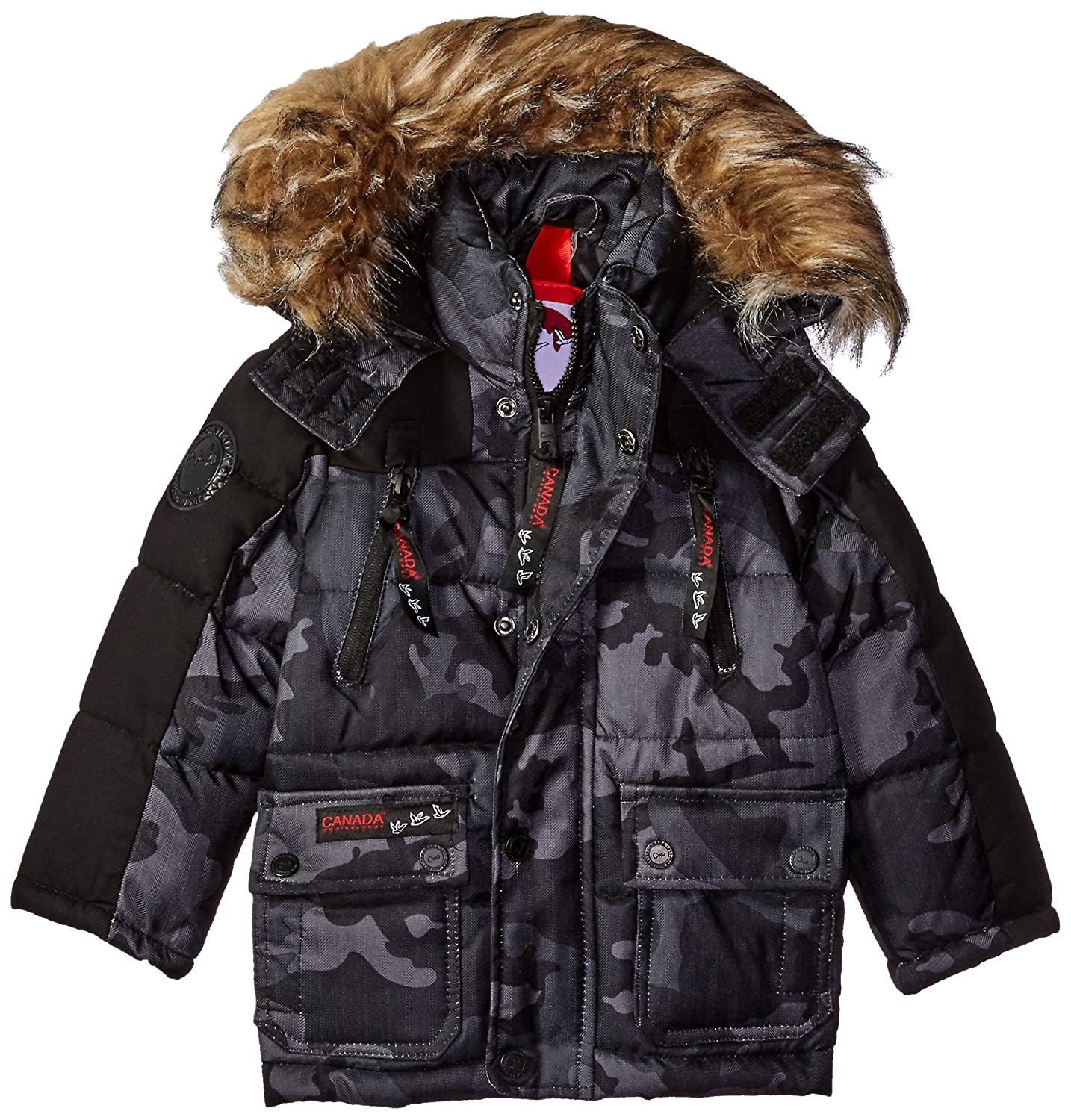 Canada Weather Gear Boys Heavyweight Hooded Bubble Jacket