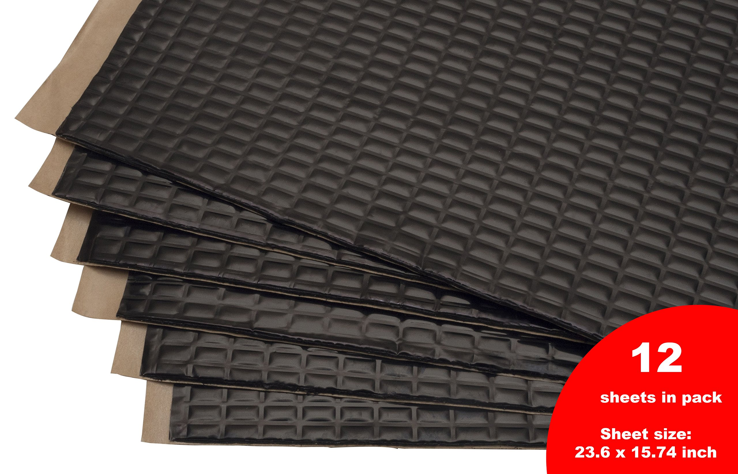 Siless Sound Deadening mat 80mil 30sqft - Sound Deadener Mat - Car Sound Dampening material - Sound dampener - Sound deadening material sound Insulation - Car Sound deadening Bulk Kit Trunk
