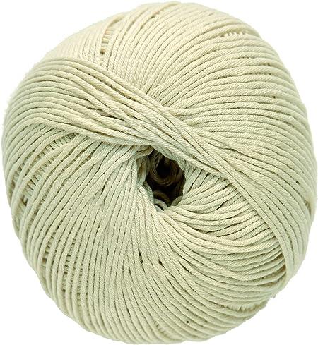 DMC Ovillo de Lana Media Natura, 100 % algodón, Color 03, 100% algodón, Gardenia N36, 9.0 x 9.0 x 7.0 cm: Amazon.es: Hogar