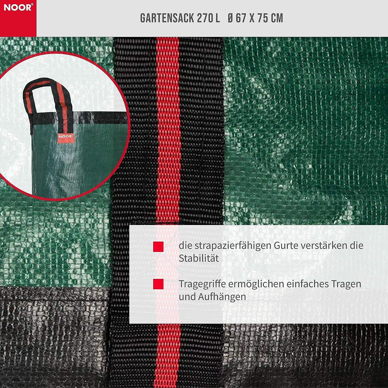 NOOR Gartensack PP//PE Grün XL 270L 67 x 75cm