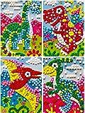 due Gattini(ドゥエガッティーニ) シール 子供 幼児 知育シール モザイクシール キューブ ステッカー 子供が集中する 幼児教育 教材 巧緻性 DIY 恐竜 宇宙 女の子 男の子 ペーパースタンド&楽しいおまけ付き プレゼント ブラキオサウルス ティラノサウルス プテラノドン (恐竜(DINOSAUR))