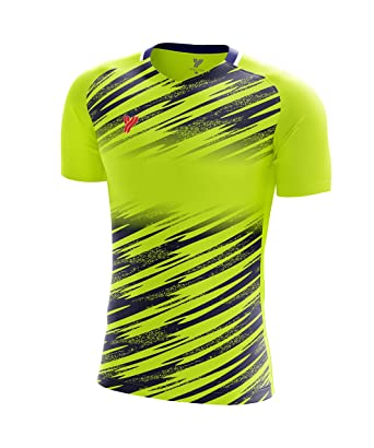 6213188b6245 Yang Yang Men s 100% Polyester Quick Dry Round Neck Full Print Short Sleeve  Performance Athletic