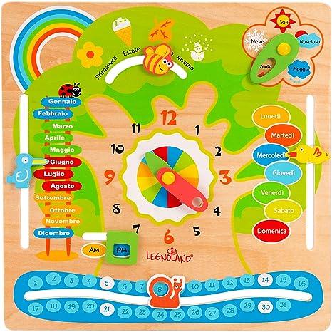 Unito Calendario Didattico.Legnoland 37328 Calendario Didattico Multicolore 37328