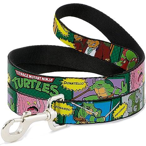 Dog Leash Ninja Turtles Character Comic Scenes 6 Feet Long 1.0 Inch Wide