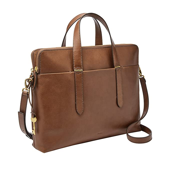 Fossil Bridgitte Leather Laptop Bag by Fossil