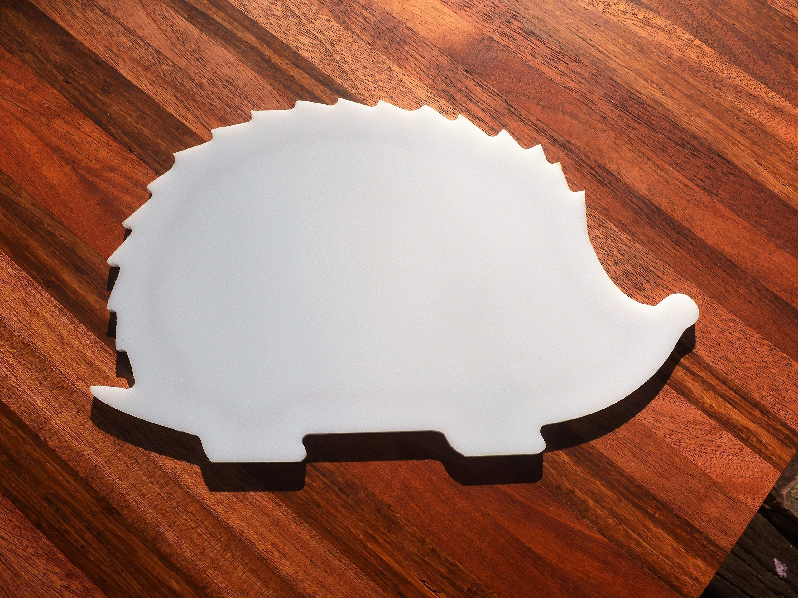 NEW HIGH QUALITY - Hedgehog Shaped White Plastic HDPE Cutting Board 11x7 Animal Lovers Dishwasher Safe FREE FAST SHIPPING! by With the Grain Woodworks (Image #4)