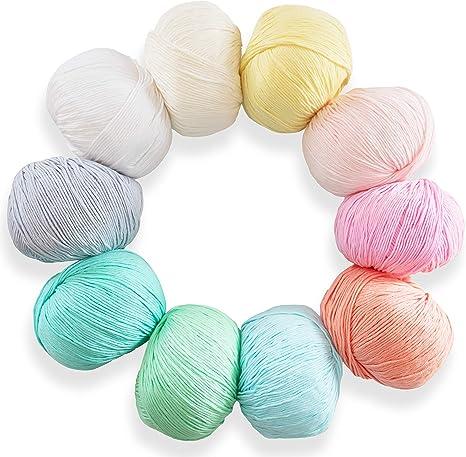 Studio SAM hilo de algodón para tejer y ganchillo. 100% algodón ...