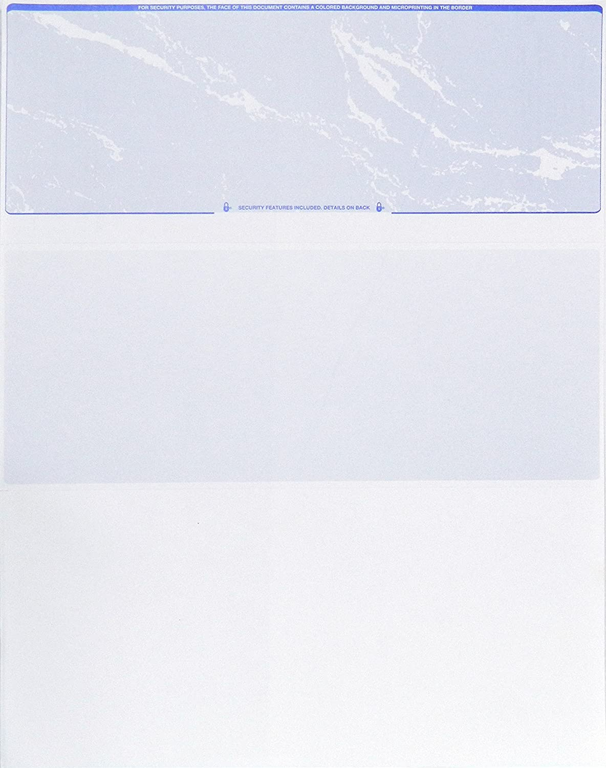 Blank Check Stock - Printable Checks for Business and Personal Use - Check on Top - Sky Blue - 500 Count Premium Check Paper