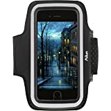 iPhone 8 Plus 7 plus Armband,by Ailun, Feartured with Sport Anti-slip Material,Scratch-Resistant, Slim Lightweight,Dual Arm-Size Slots,Sweat Resistant&Key Pocket,with Headphone Port[Black]