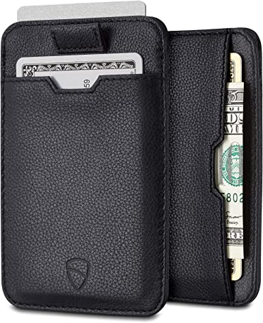 Men/'s Real Leather Small Id Credit Card Wallet Holder Slim Portable Pocket Case