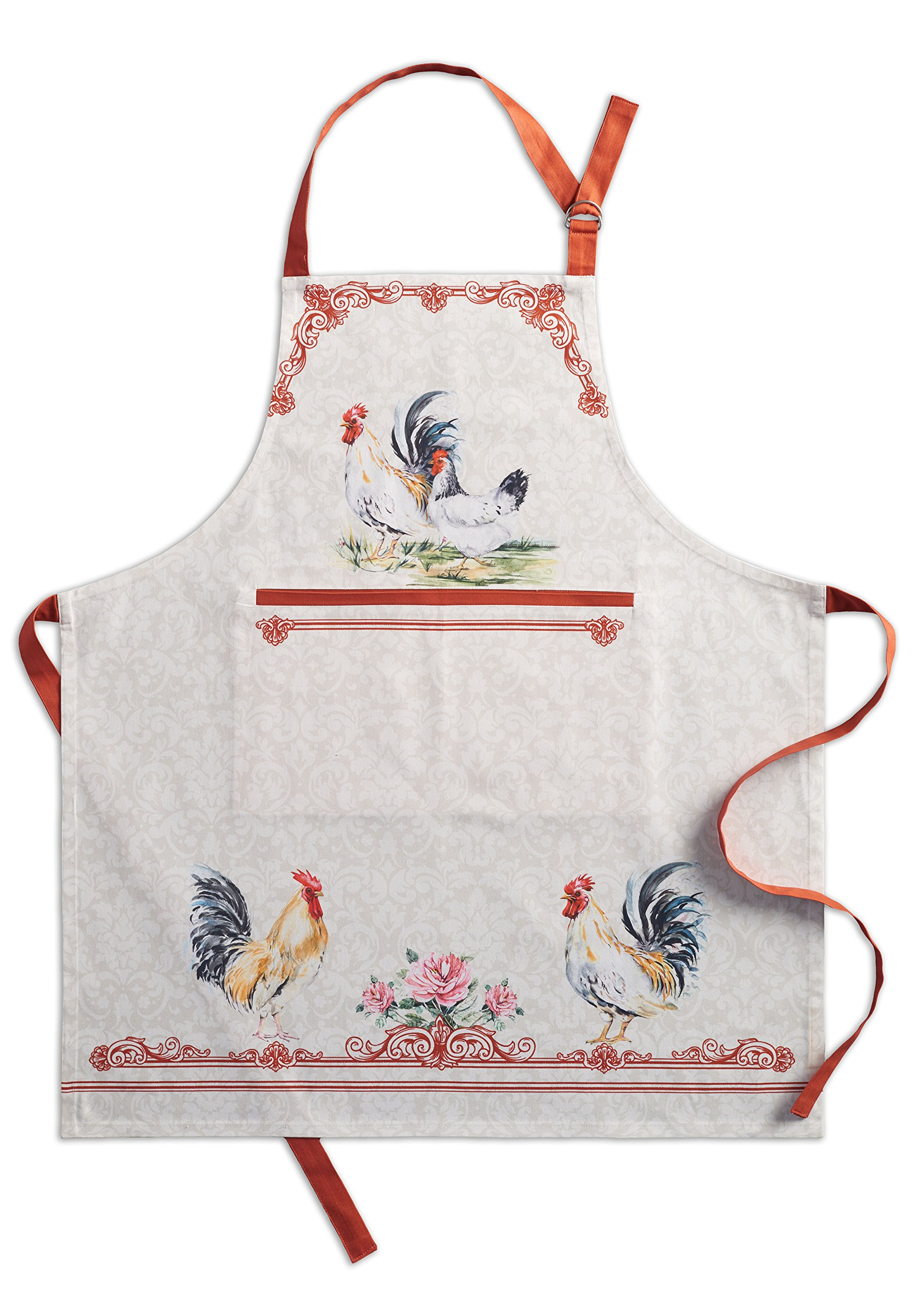 Maison d' Hermine Campagne 100% Cotton Apron with an adjustable neck & hidden center pocket 27.50 - inch by 31.50 - inch