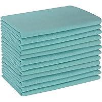 Servilletas de algodón de 45,7 x 45,7 cm, color aguamarina, servilletas de algodón, servilletas de boda, servilletas de…