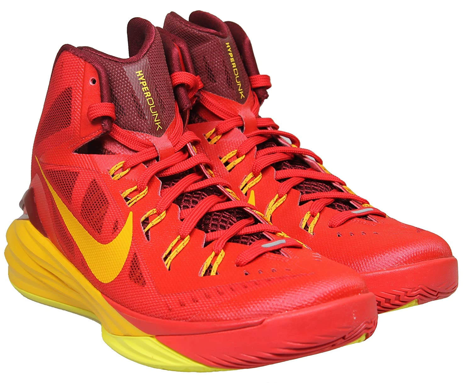 Exactly Fit Nike Hyperdunk 2014 Low Black Yellow Red