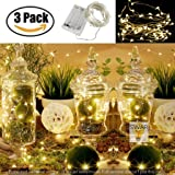 Glimmer Lightings 3M Battery LED Copper Wire String Lights 30 Bulbs for Bottle/Home Decoration/Diwali/Wedding Gifts(Warm White, swar76) - Pack of 3