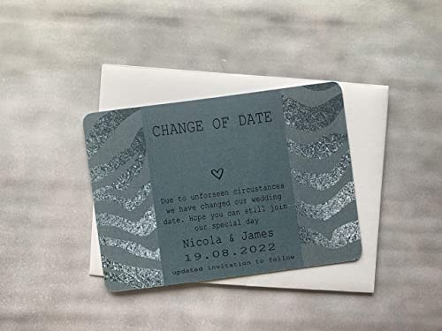 10x personalised wedding save the date cards