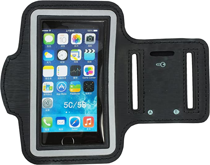 Zooky® Brazalete deportivo con funda para movil / Sports Armband / Cinta brazo Running Gym para Apple iPhone 5 / 5S / 5C: Amazon.es: Electrónica