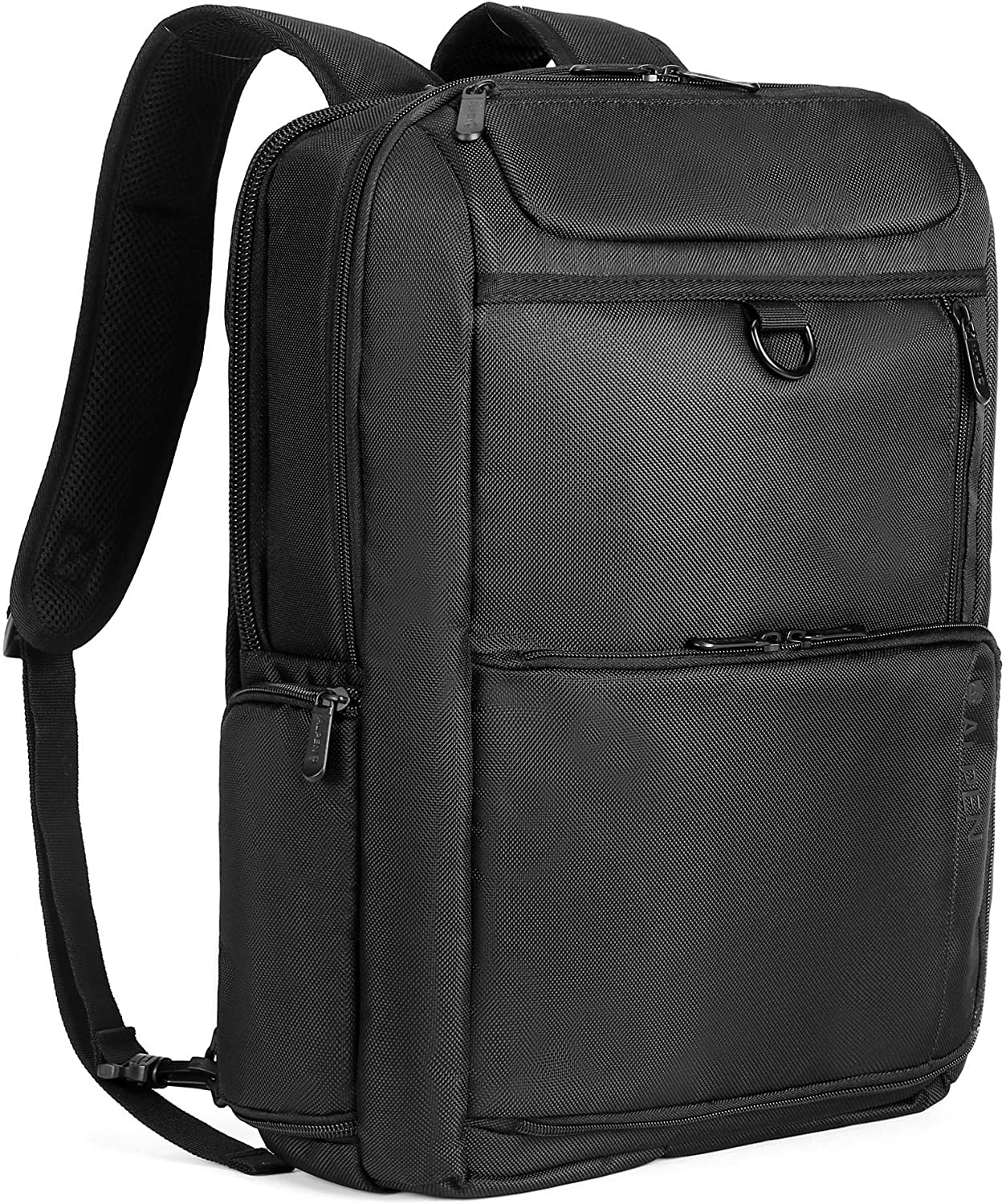 Swiss Alpen – City Collection Slim Backpack – Water Resistant Durable 1680D Large Laptop Backpack for Travel, School Business – Fits 15.6 Laptop – Black Exclusive