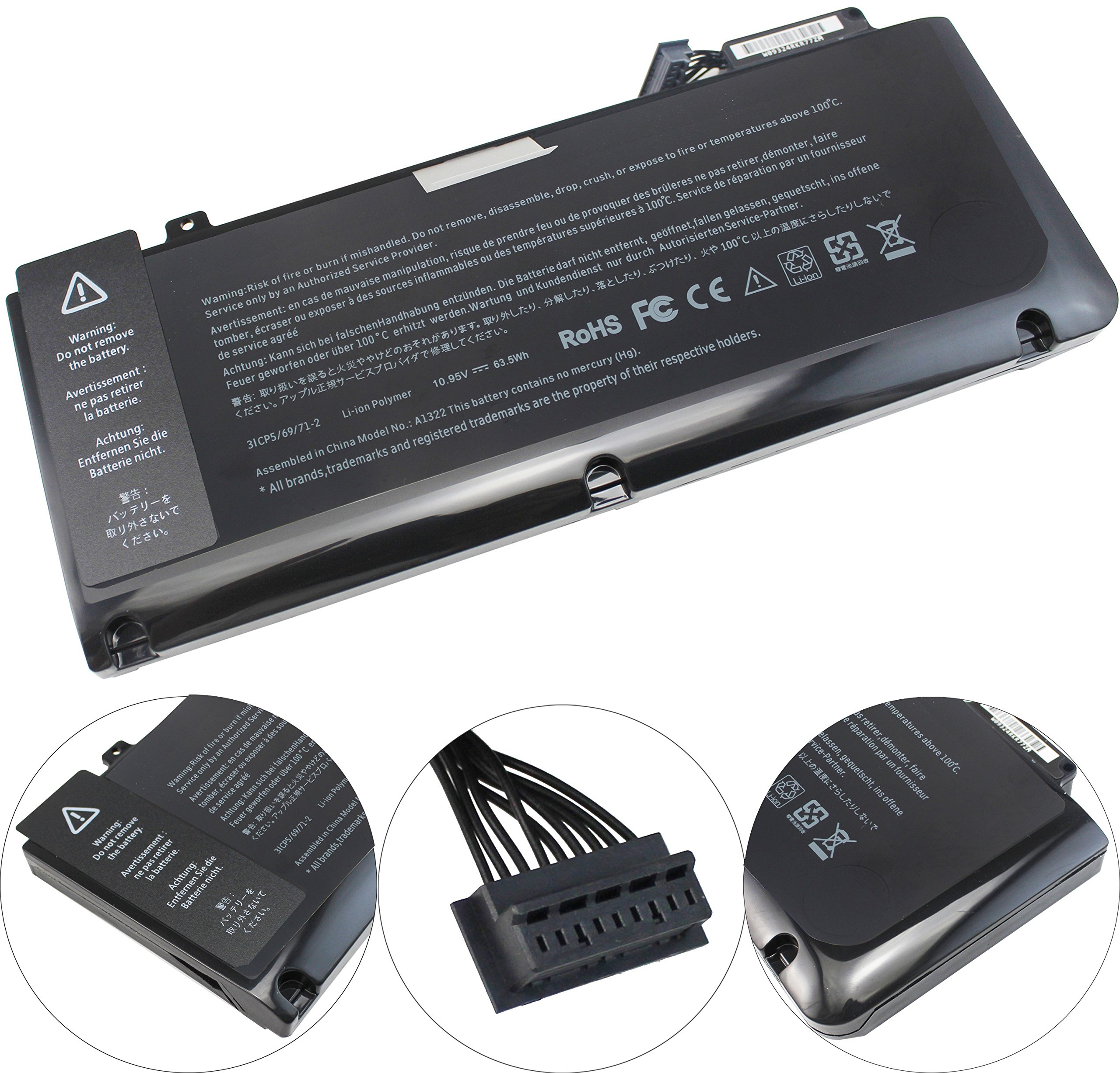 BATURU A1322 Laptop Battery for MacBook Pro 13 inch A1322 A1278 (mid 2009 2010 Early 2011 Late 2012 Version) MB990LL/A MC724LL/A MD314LL/A 020-6547-A - 12 Month Warranty by BATURU (Image #2)