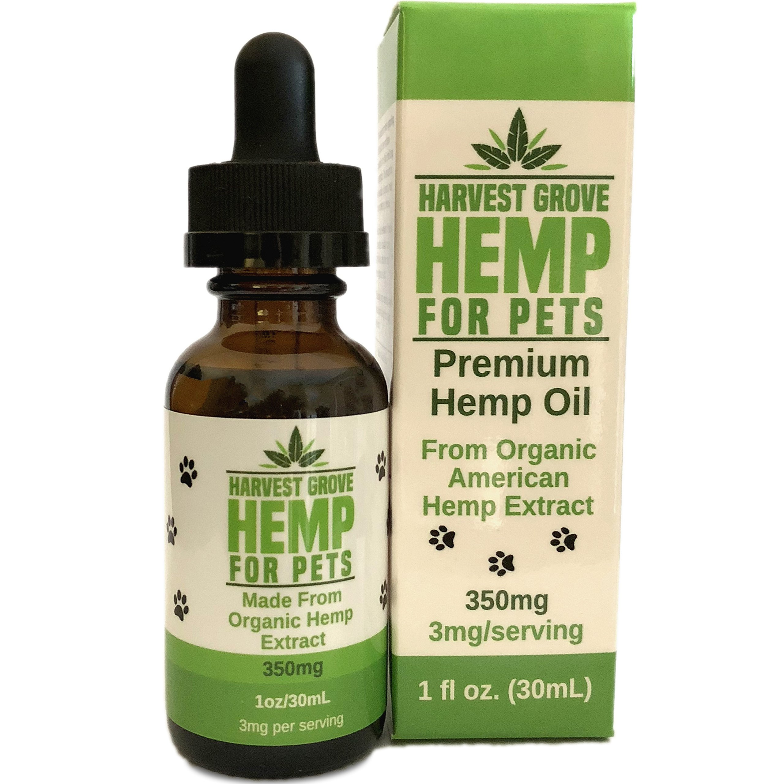 Harvest Grove Hemp Hemp Oil For Pets By Cats And Dogs - Unflavored - Made From Organic Hemp - Pure Hemp Extract - For Pain - Stress - Healthy Hips And Joints - Anxiety - (1oz/350mg) by Harvest Grove Hemp