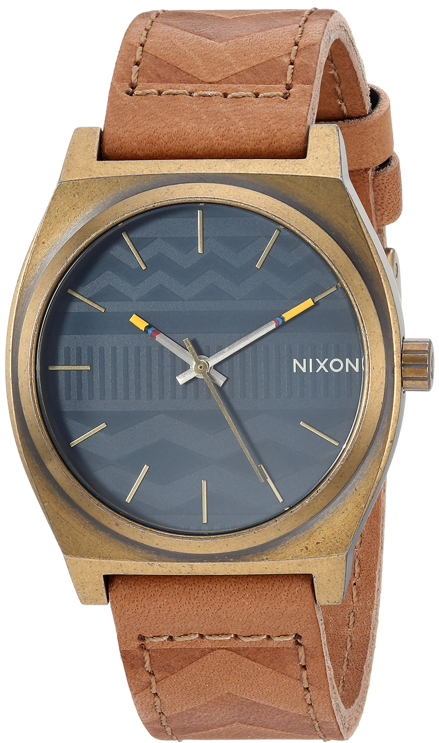 Nixon Men's 'Time Teller' Quartz Stainless Steel Casual Watch, Color Brown (Model: A0452731)