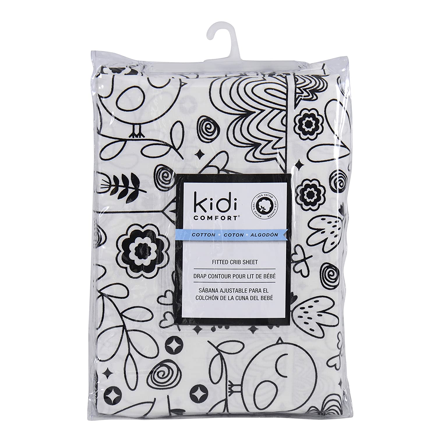 Kidiway 1560 kidicomfort Fitted Sheets - 100% Cotton - White