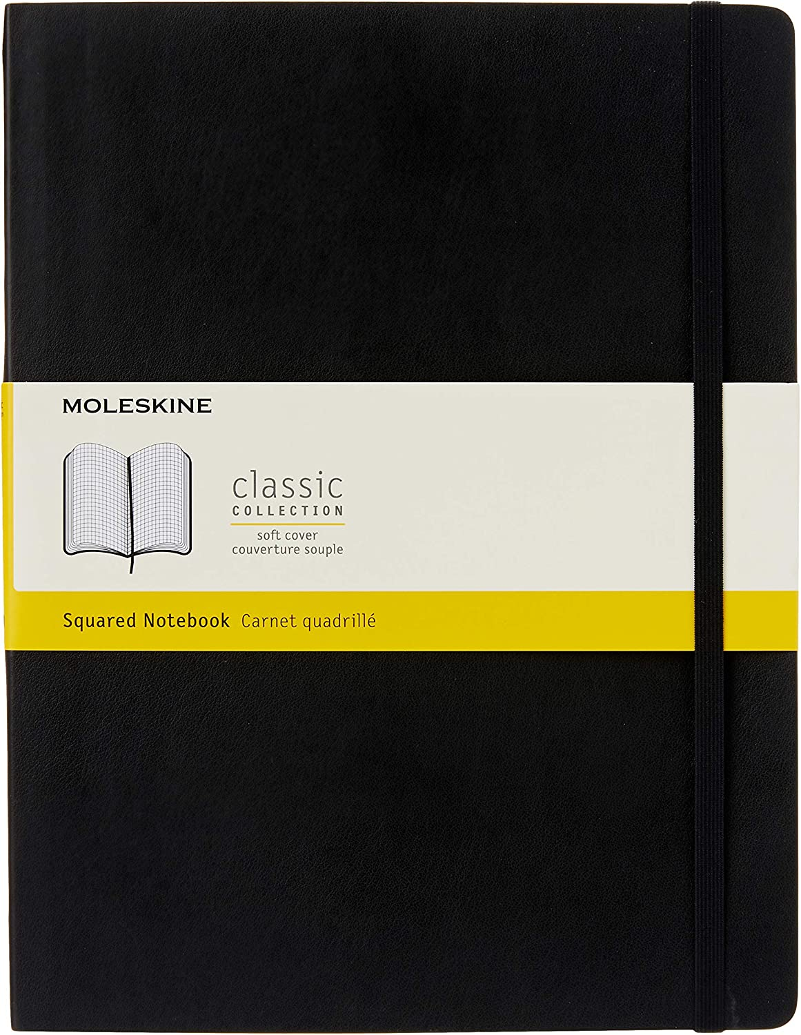 Soft Cover Notebook for Writing Journals Black XL 7.5 x 9.75 Dotted Sketching Moleskine Classic Soft Cover Notebook