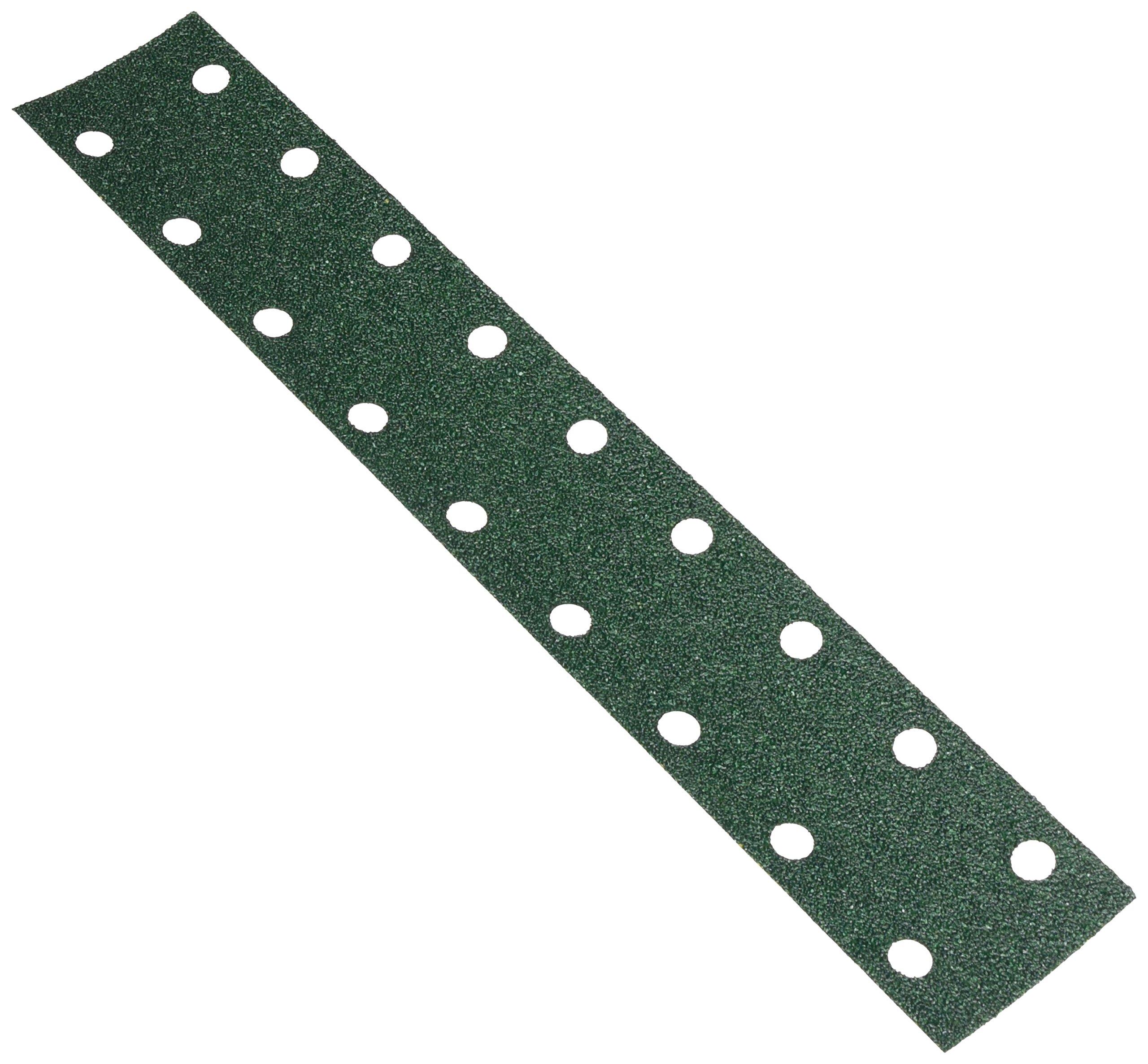 3M 00642 Green Corps Hookit 2-3/4'' x 16'' 40E Grit Regalite Dust-Free Sheet