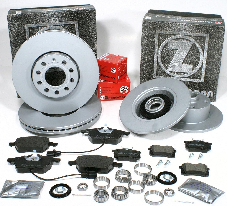 Zimmermann Bremsscheiben Coat Z Radlager f/ür hinten Bremsbel/äge vorne hinten