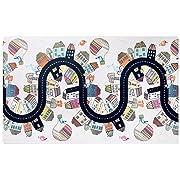 Skip Hop Vibrant Village Reversible Waterproof Foam Baby Play Mat, Multi Colored, 86  X 52