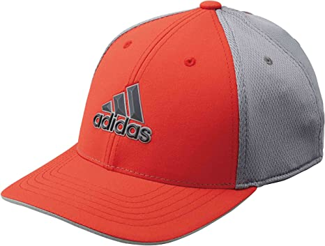 b7c3c58586243 adidas Golf 2018 Mens Climacool Stretch Fit Tour Golf Cap Hi Res Red L XL