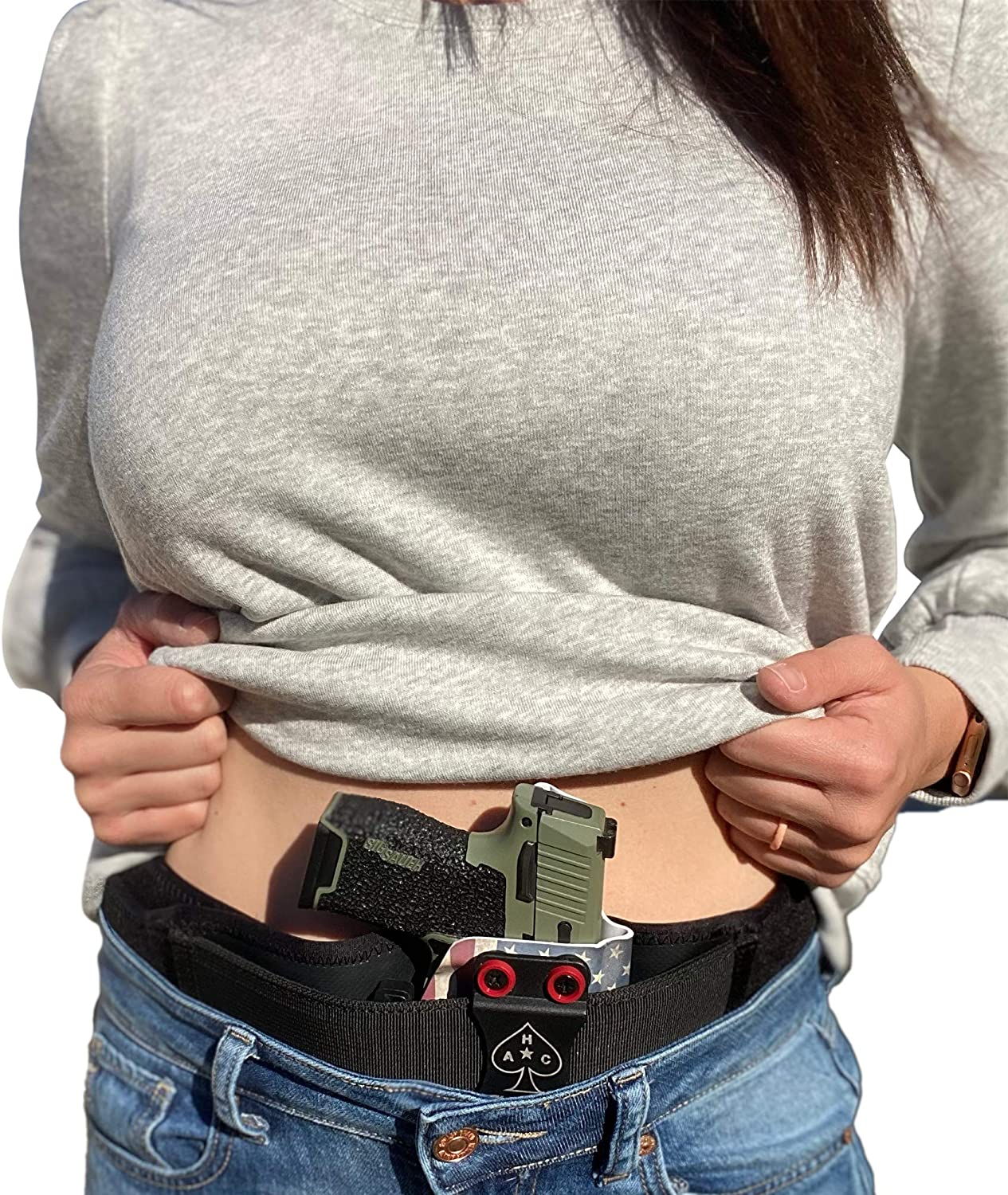 STRAPT Belly Band Holster ~ Use with Any IWB Kydex Gun Holster (kydex Holster not Included) ~ Compatible with Glock, Sig Sauer, Springfield, Ruger, Smith and Wesson, Taurus & Similar Guns