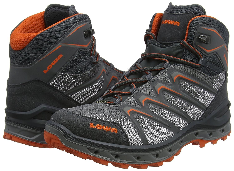 blau//rot Lowa Herren Aerox GTX Mid Trekking-/& Wanderstiefel 44 EU
