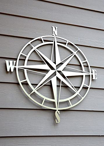 Delightful Nautical Compass Rose Metal Wall Art