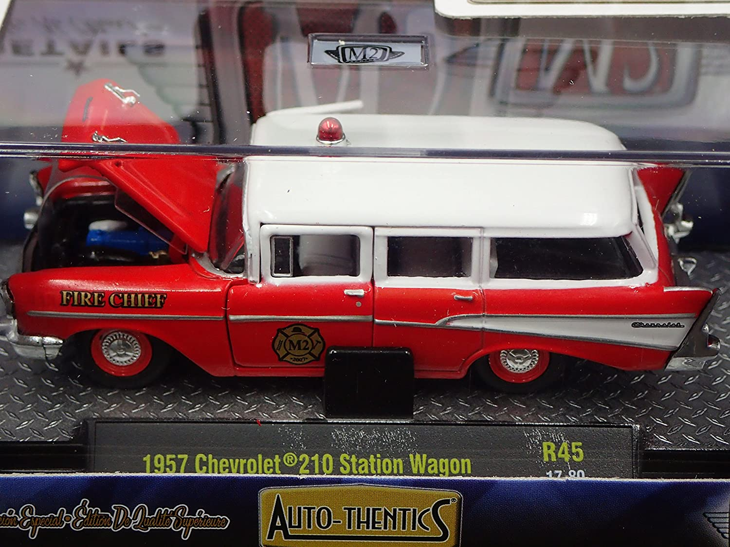 1957 Chevrolet 210 Station Wagon Fire Chief 2017 M2 Auto Chevy Thentics R45 17 80 Toys Games