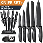 Home Hero Stainless Steel Chef Knives Kitchen Set, 7-piece