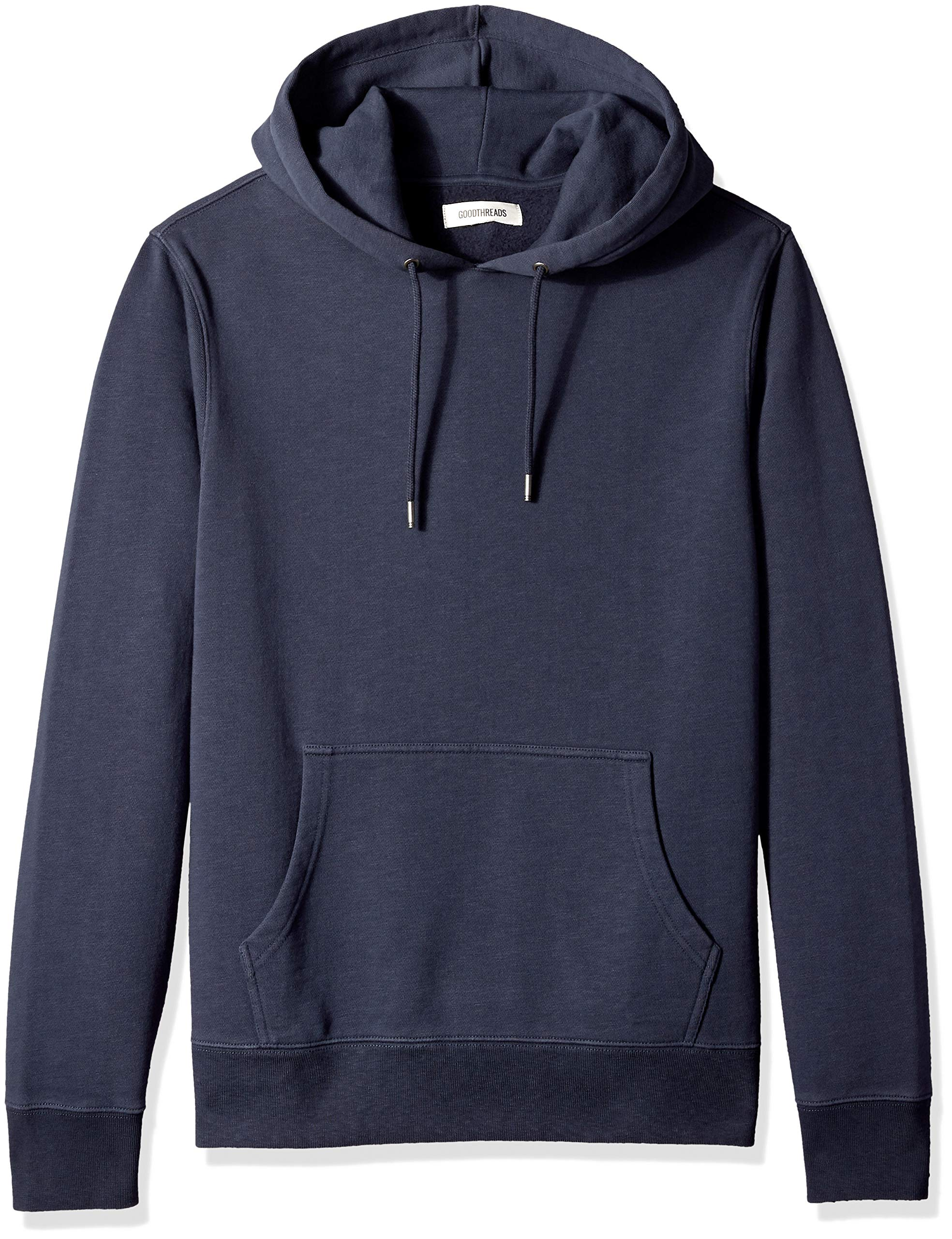 Amazon Brand - Goodthreads Men's Pullover Fleece Hoodie, Navy Eclipse, Large by Goodthreads