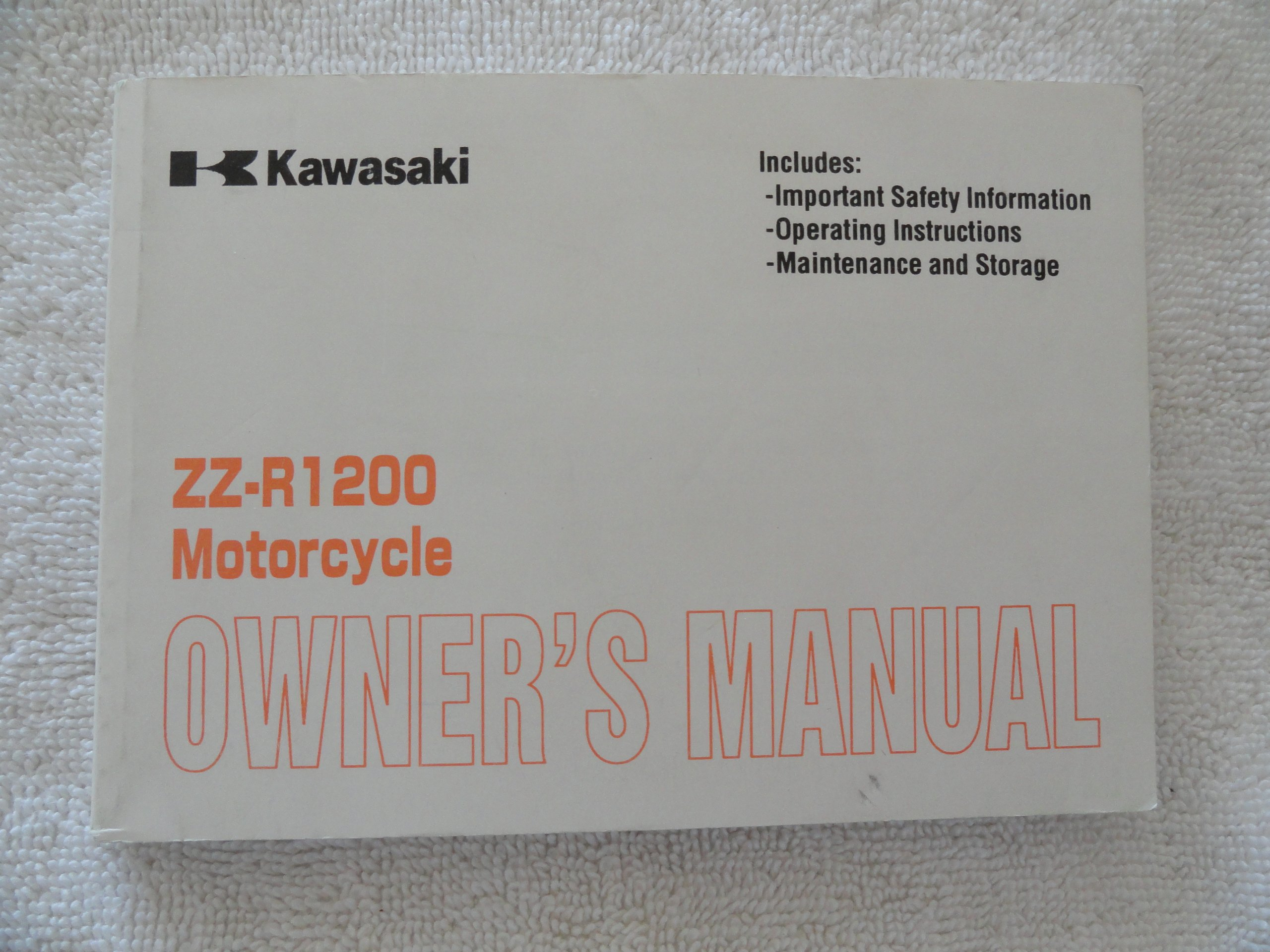 2001 2002 Kawasaki ZZ-R1200 Owners Manual ZZ R 1200: Kawasaki: Amazon.com:  Books