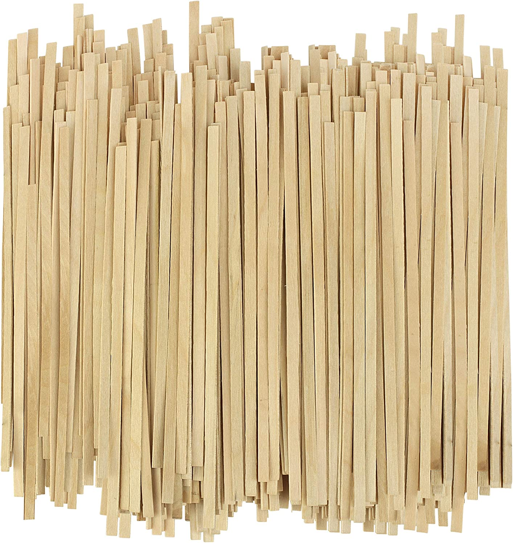 "Disposable Wooden Coffee Stirrers - 5.5 Inch Stir Stick (1000, 5.5"")"