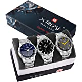 Xtreme Round Multi Color Dial 3 Combo Water Resistant Watch for Men (XM-CMB-02)