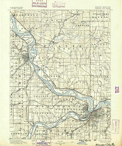 Amazon.com: Missouri Maps   1890 Kansas City, MO USGS Historical ...