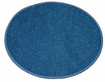 Genial Banton Teppich (80 Cm Rund, Blau)