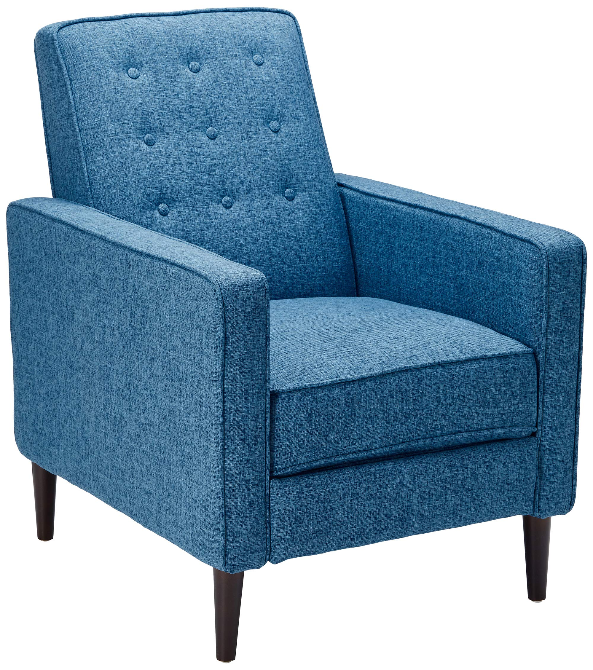 Christopher Knight Home Mervynn Mid-Century Modern Fabric Recliner, Muted  Blue