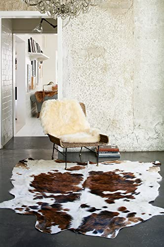 Overland Sheepskin Co Tri-Color Exotic Cowhide Rug