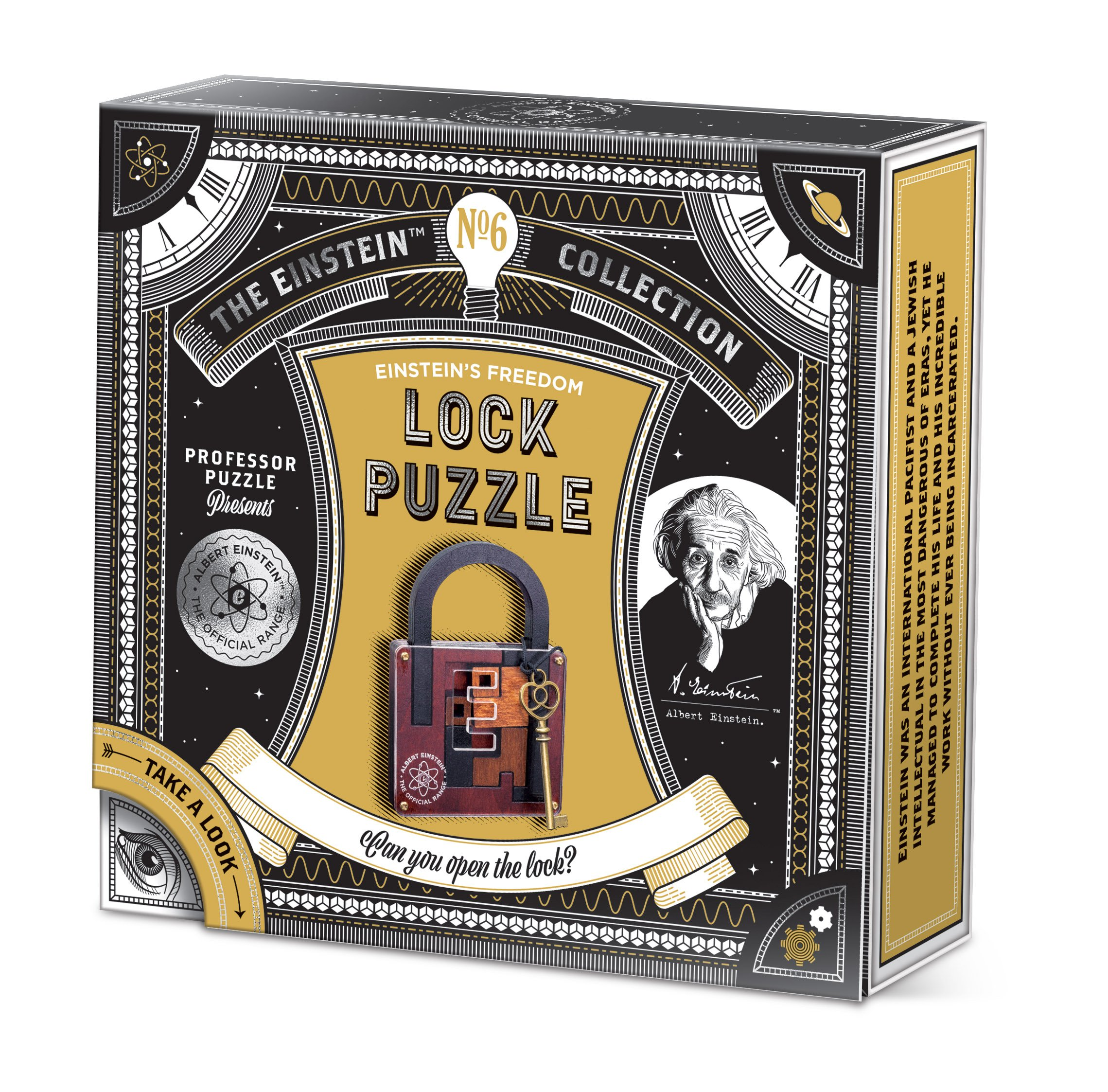 Professor Puzzle Einstein's Lock Puzzle Disentanglement, Brown